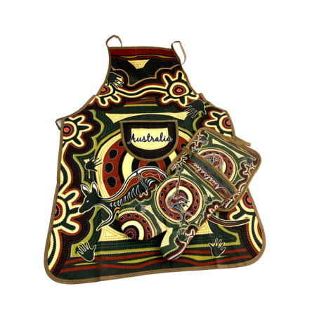 Aus Icons Oven Mitt, Pot Holder & Apron Set